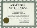 Ass Kisser Certificate